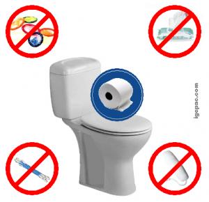 produits à ne pas jeter dans toilettes